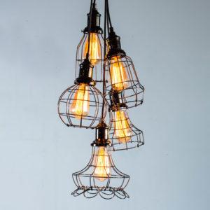 lampara estructura metalica