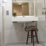 baño puerta corredera wc in wash