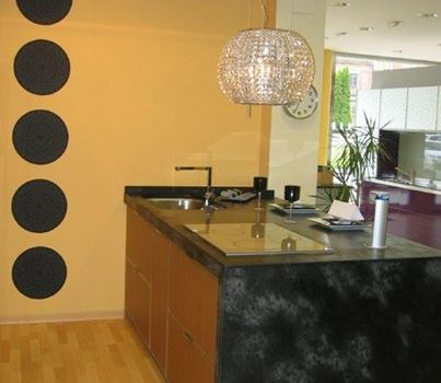 mesa trabajo cocina negra