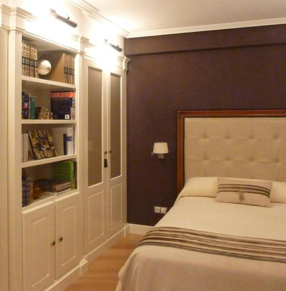 Dormitorio reformado en proyecto de reforma de piso - Suelo, armarios, mobiliario y paredes