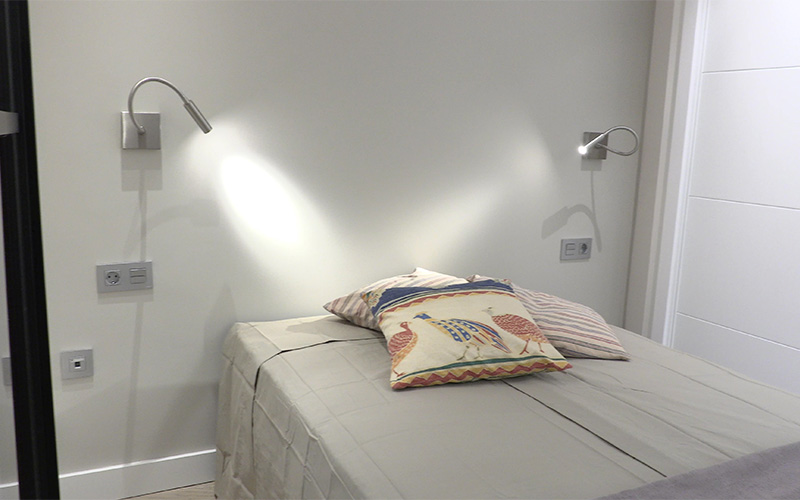 Vista del dormitorio - Proyecto Reforma de estudio pequeño